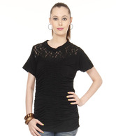 Spanky Black Viscose-Lycra Top