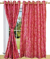 Shandar Eyelet Techno Pink Door Curtain