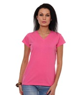 Finesse Pink Cotton Lycra T-Shirt