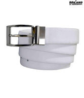 Milano Xxssories Splendid White Smooth Finish Belt