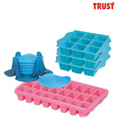 Trust Ice Trays & Coaster Set
