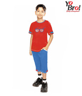Yobro Red & Blue Night Suit For Kids