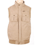 Numero Uno Light Brown Sleeveless Jacket