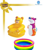 Intex Combo Teddy Chair & Baby Pool W/Hit Me Bop Bag