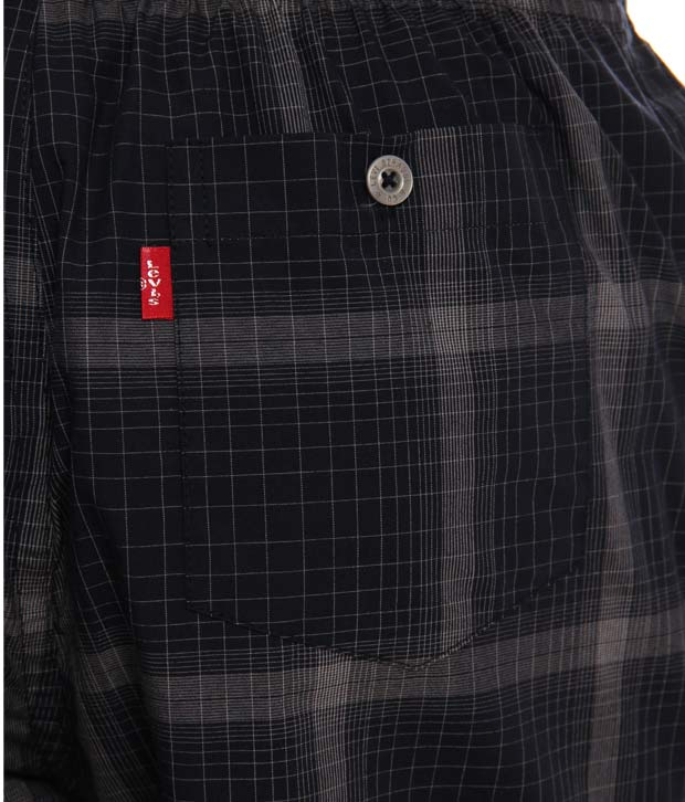 Levis Black-Grey Checkered Boxer