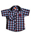 Little Kangaroos Wine-Blue Checks Shirt