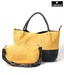 Calvino Yellow Snake Print Handbag & Sling Bag Set