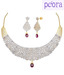 Peora Ice Lattice Festive Necklace Set