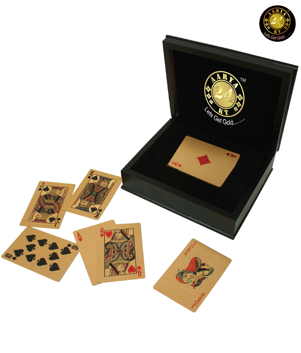 Aarya24kt Gold Plated Playing Cards