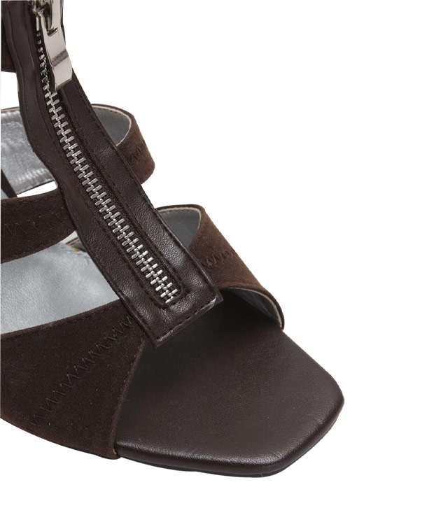 Carlton London Brown Zipper Gladiators