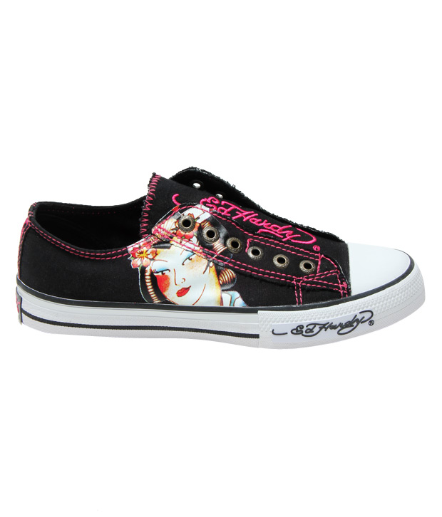 Ed Hardy Black Butterfly Sneakers