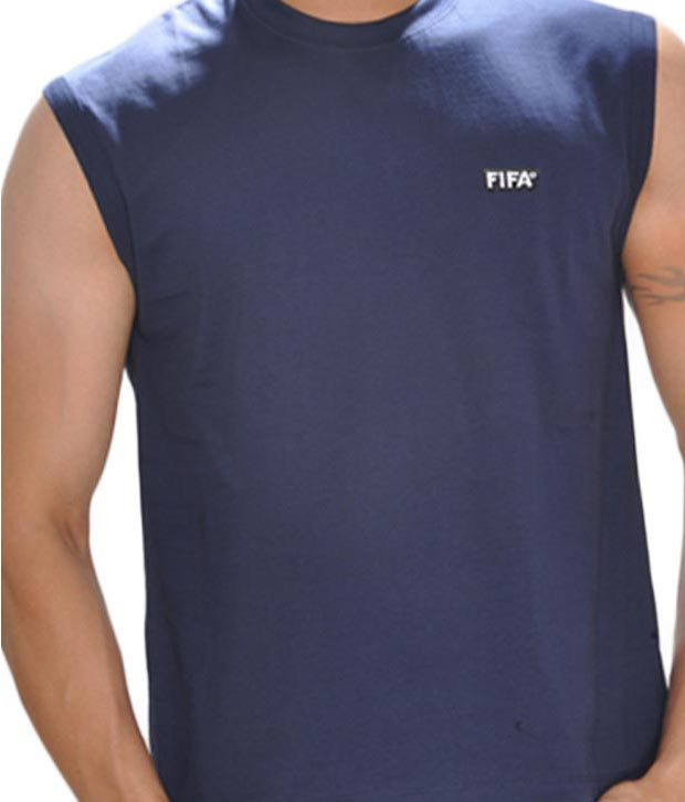 FIFA Navy Blue Sleeveless T-Shirt