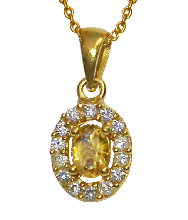 Piebee Citrine Pendant Set With Earrings