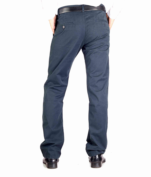 Highlander Navy Blue Casual Trouser HLTR002873