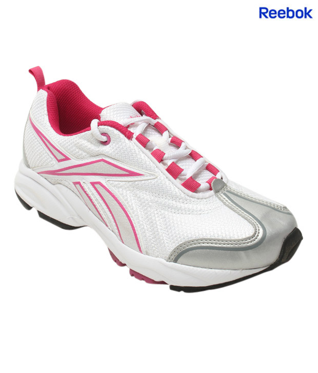 Reebok Global Runner White & Pink Sports Shoes