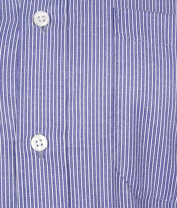 John Miller Striped Blue Shirt