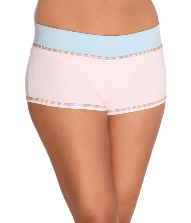 Lieben Mode Baby Pink Plain Summer Shorts With Free Aromatic Candle