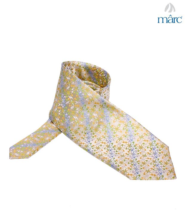 Marc Multicolour Flower Stitch Necktie