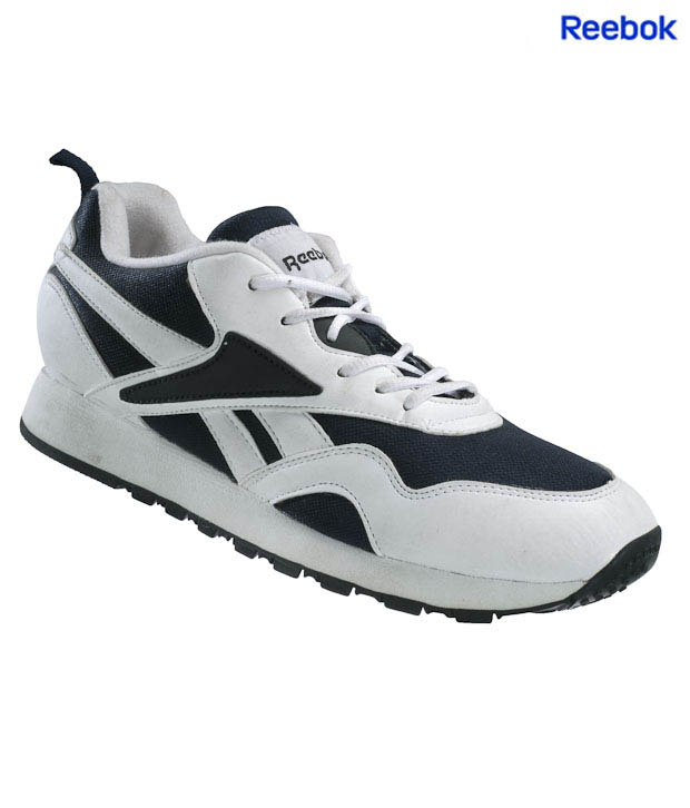 Reebok Blaze White & Navy Jogging Shoes