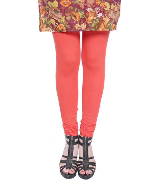 Rudham Coral Pink-Brown-Black Leggings Combo