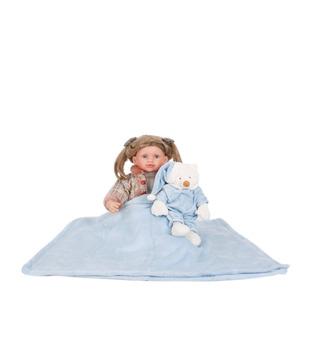Keona Kidz Blue Baby Blanket & Soft Toy Set
