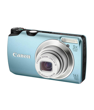 Canon Power Shot A3200 14MP Point & Shoot (Blue) (with 4 GB SD Card + Charger + Carry Case)