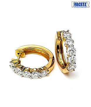 Facetz Bali Style Diamond Gold Earrings