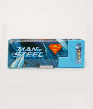 Superman Blue Cute Pencil Box