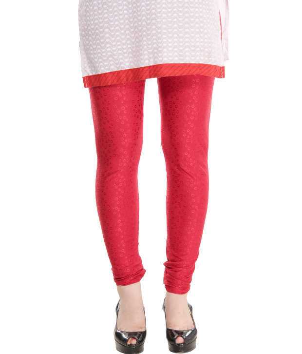 Pankhuri Vibrant Red Leggings