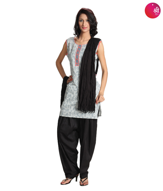 Shree Black Patiala Salwar With Dupatta