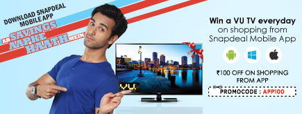 Win a UV TV Everyday on Shopping From new Mobile App from SnapDeal & more gifts