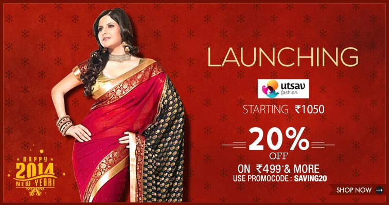 4 active Utsav Sales & Discount Codes Visitors save an average of $; For the big coming Indian occasion coming, don't forget to get amazing Utsav coupons which will be happy to help you dress appropriate and also stylish in Indian style.